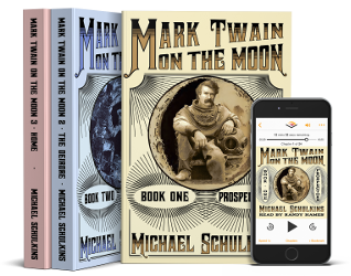 Mark Twain on the Moon series by Michael Schulkins